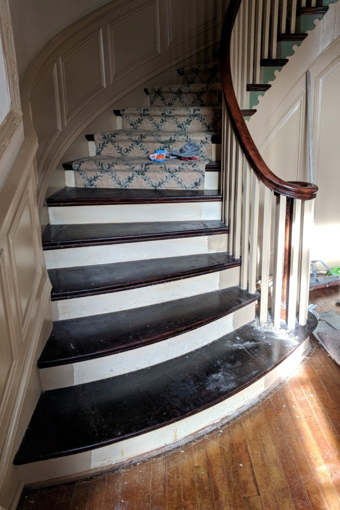 How To Remove Stair Carpet Tips And Tricks Reality Daydream | Carpet On Tread Only | Wood Stairs | Risers | Stair Tread | Hardwood | Staircase