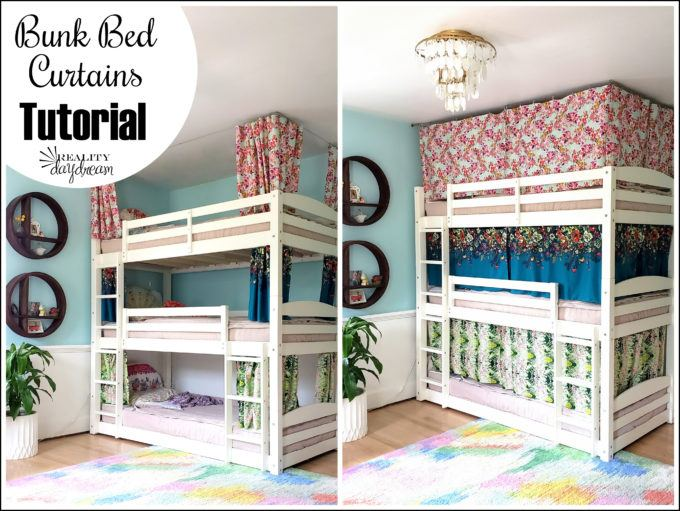 bunk bed curtains how to tutorial
