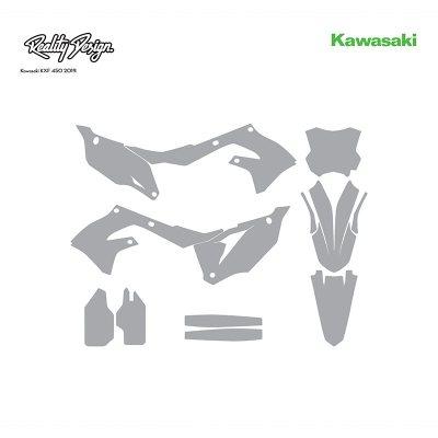 Kawasaki KXF 450 MX Motocross 2019 Graphics Template