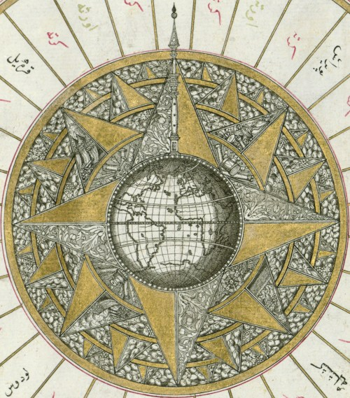 image of polarity, as described in a rose compass