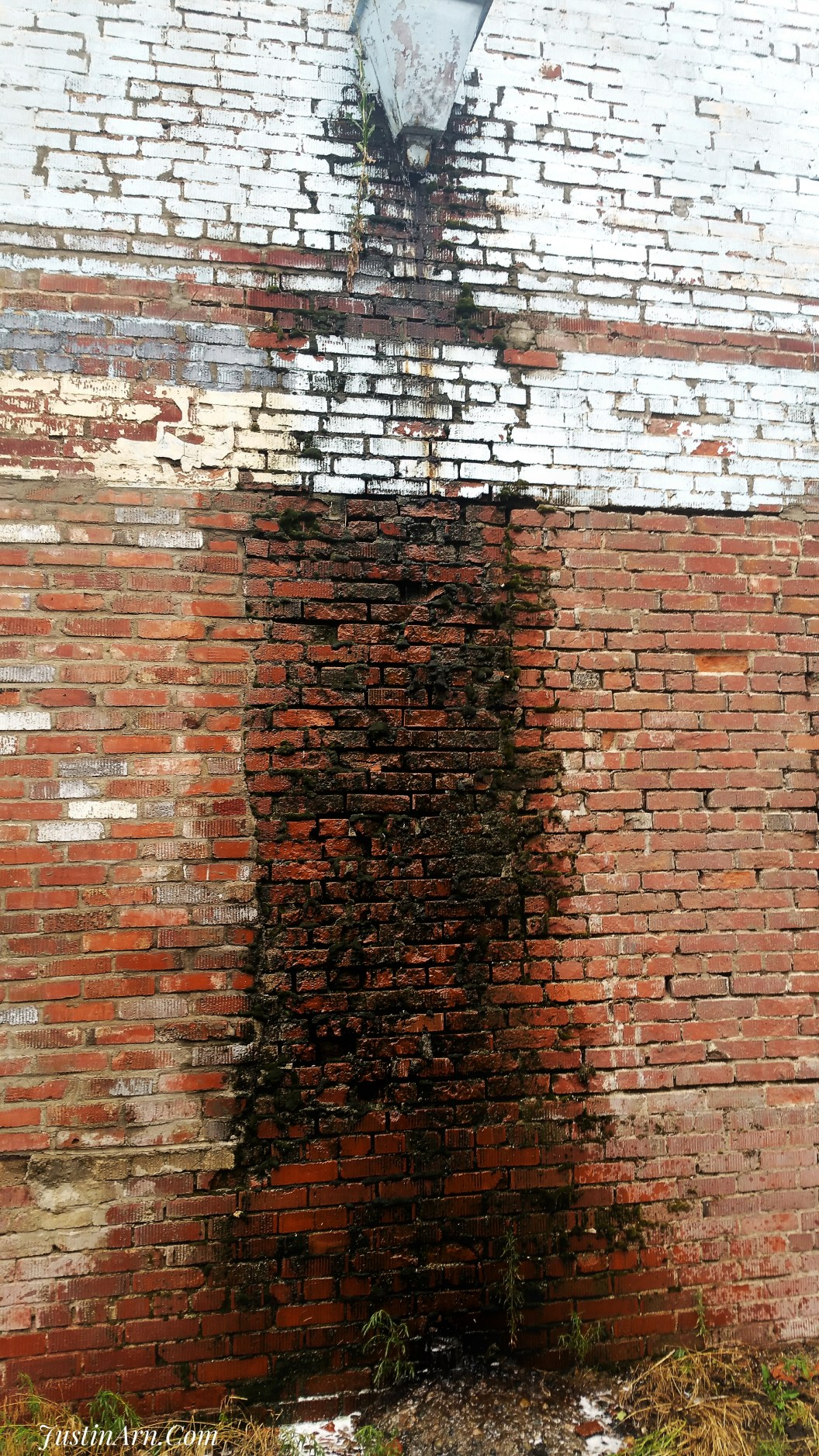 Brick work deteriorating from time and weather.