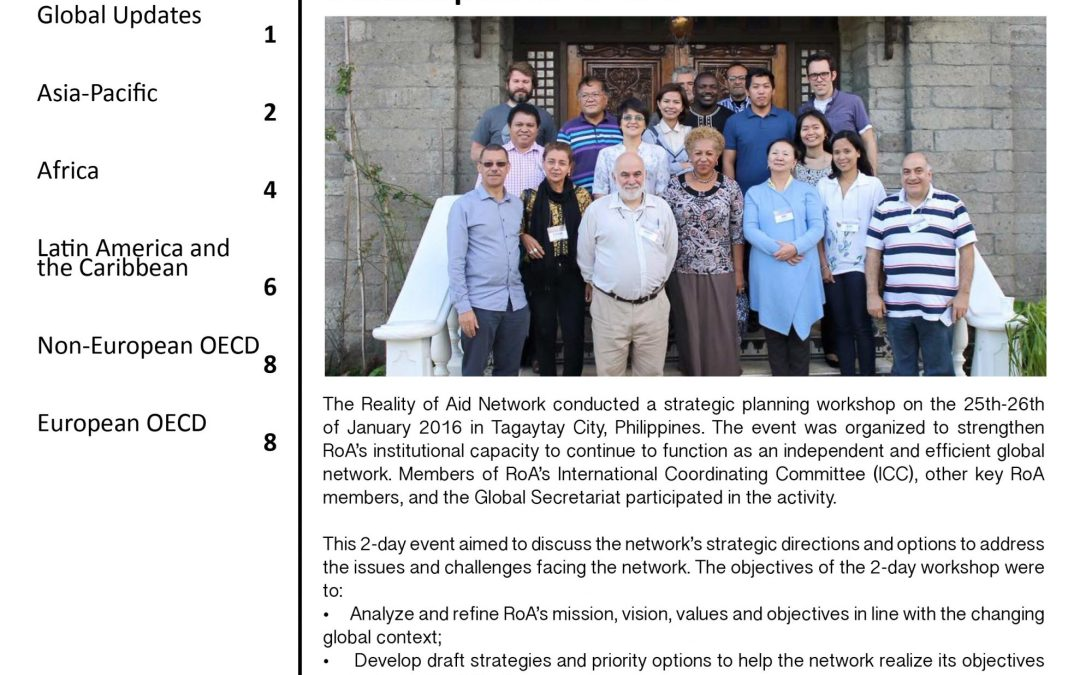 ROA Global eNewsletter (January-June 2016)