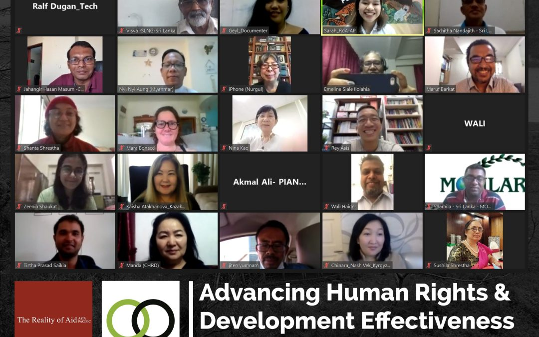"RoA-AP conducts pilot workshop on new publication, ""CSO Aid Observatorio Training Handbook 2020"""