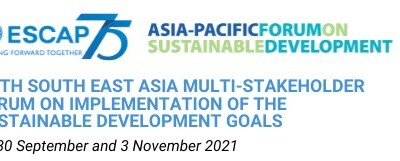 Intervention on Sustainable Finance Recovery for UNESCAP's 5th Southeast Asia Multi-Stakeholder Forum