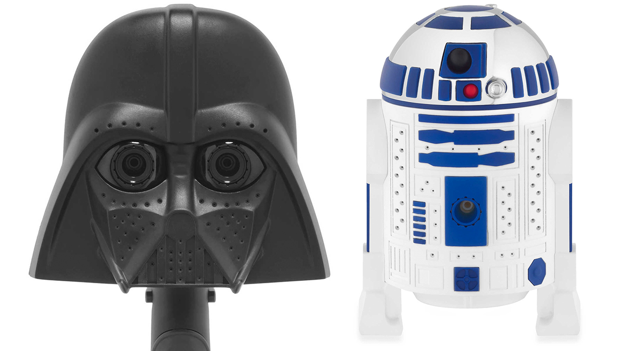 Bathroom Decor For Star War Fans Covered With Darth Vader  R2D2 Novelty Shower Accessories