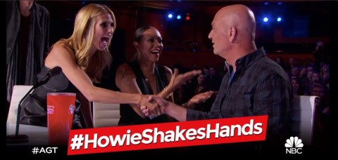 America's Got Talent 2015 Spoilers - Howie Shakes hands
