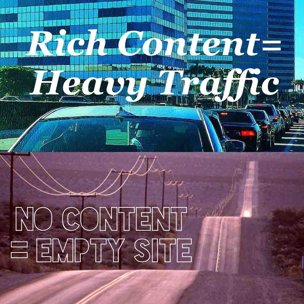 Heavy Search Traffic vs Empty Road