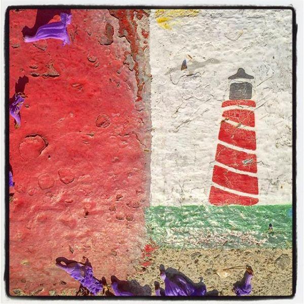 Lighthouse Gutter Art
