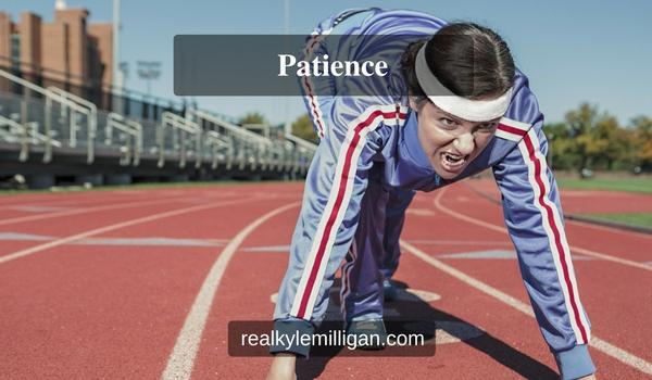 patience realkylemilligan.com woman at starting line sprinter sprint