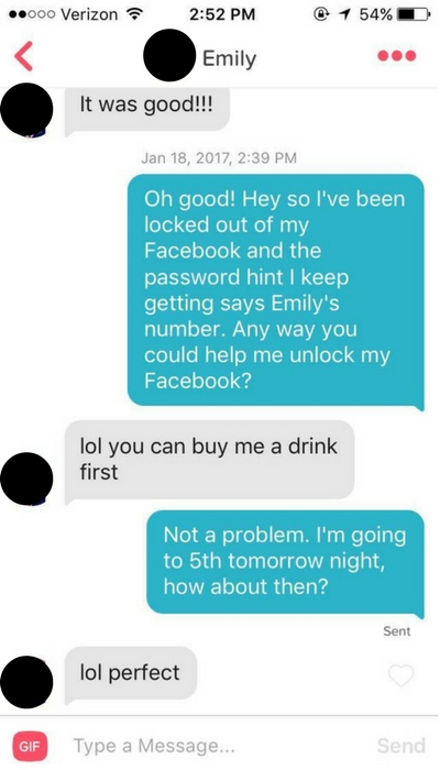 Getting a Date with Emily on Tinder