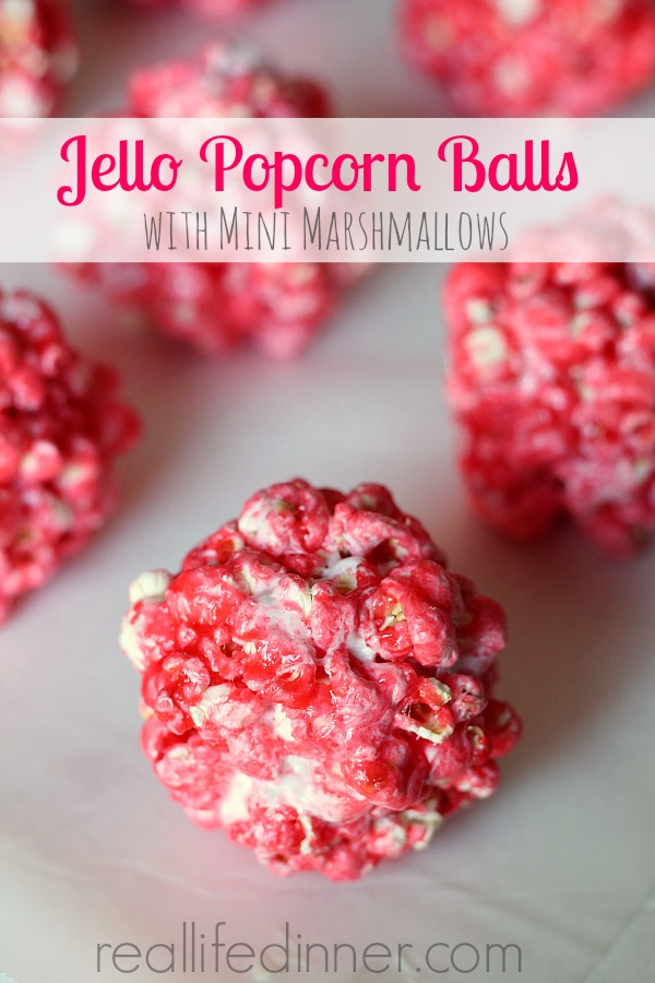 Jello Popcorn Balls With Mini Marshmallows Jello Popcorn