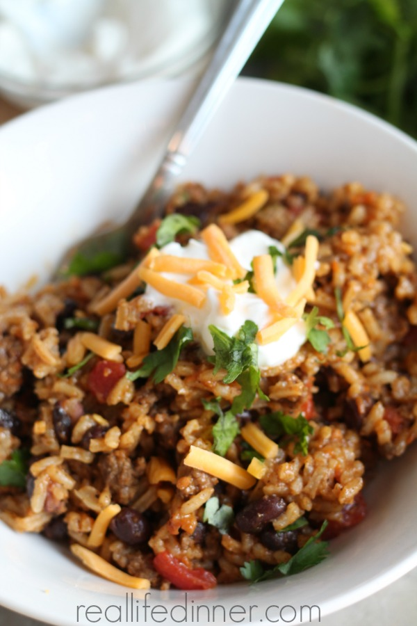Skillet Taco and Rice Dinner  Real Life Dinner Thirty