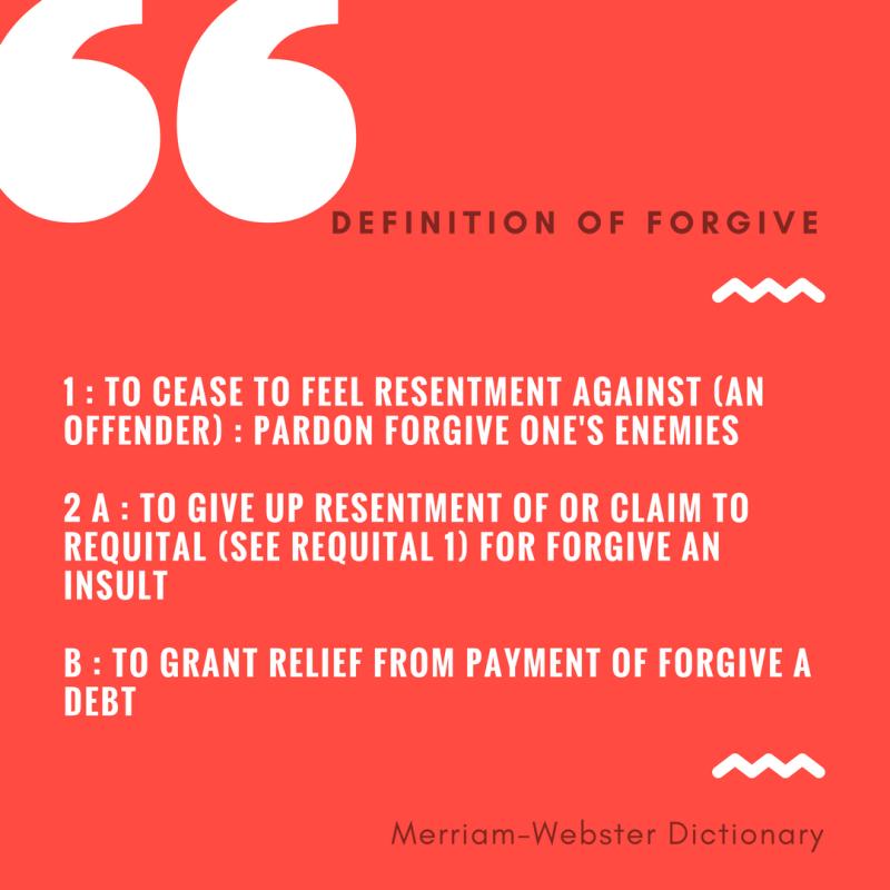 Forgive Definition