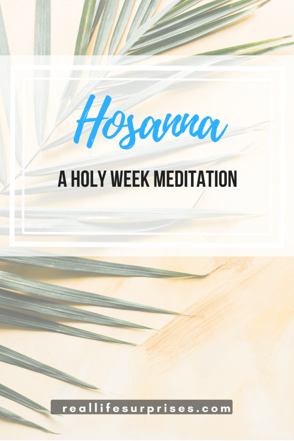 Hosanna: A Holy Week Meditation