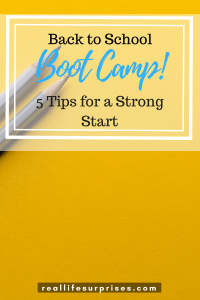 Back to School Boot Camp: 5 Tips for a Strong Start