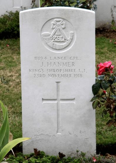 John HANMER, Niederzwehren Cemetery, Kassel