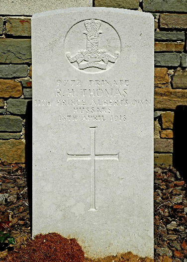Richard Henry THOMAS, St Souplet British Cemetery, Cambrai, France