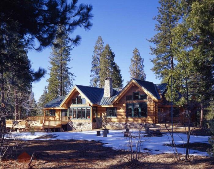 Auberry CA  Real Log Homes  California log home