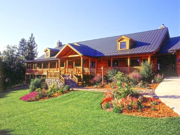 landscaping easy log home maintenance