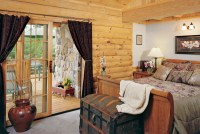 Window Treatments for French Doors | Real Log Homes