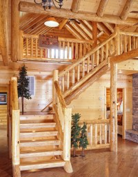 L-shaped staircases  Real Log Style