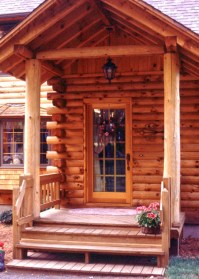 Log Home Front Door Options | Real Log Homes