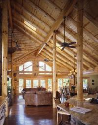 log home kitchens  Real Log Style