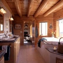 Log Cabin Master Bathroom
