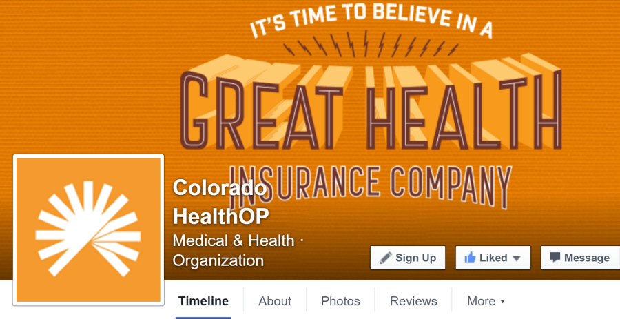 Rachel Moore designed the social media brand graphics for Colorado HealthOP (2015)