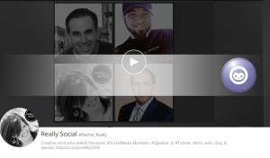 Really Social's Rachel Moore livestreams often on Blab as a host and guest.