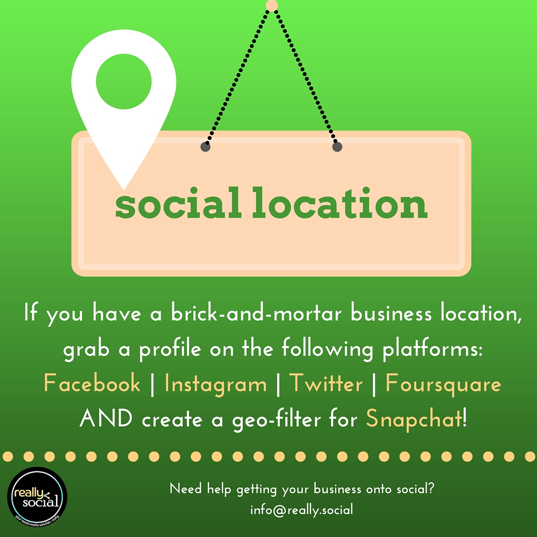 #ReallySocialTip | How to Use Social Media | Use Location in Social Media | Really Social