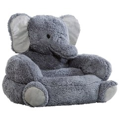 Kids Character Chairs Aqua Dining Room Chair Covers Elephant Plush - Really Cool