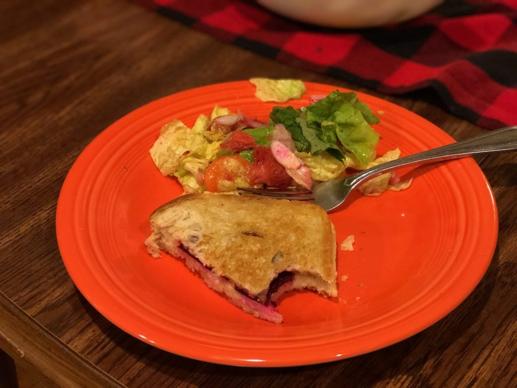 Pickled Beet Fontina Grilled CHeese Blue Apron Review Really Into This Blog