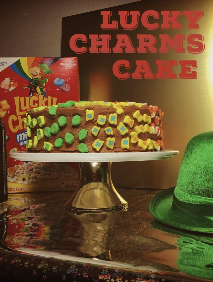 Lucky Charms Chocolate Cake