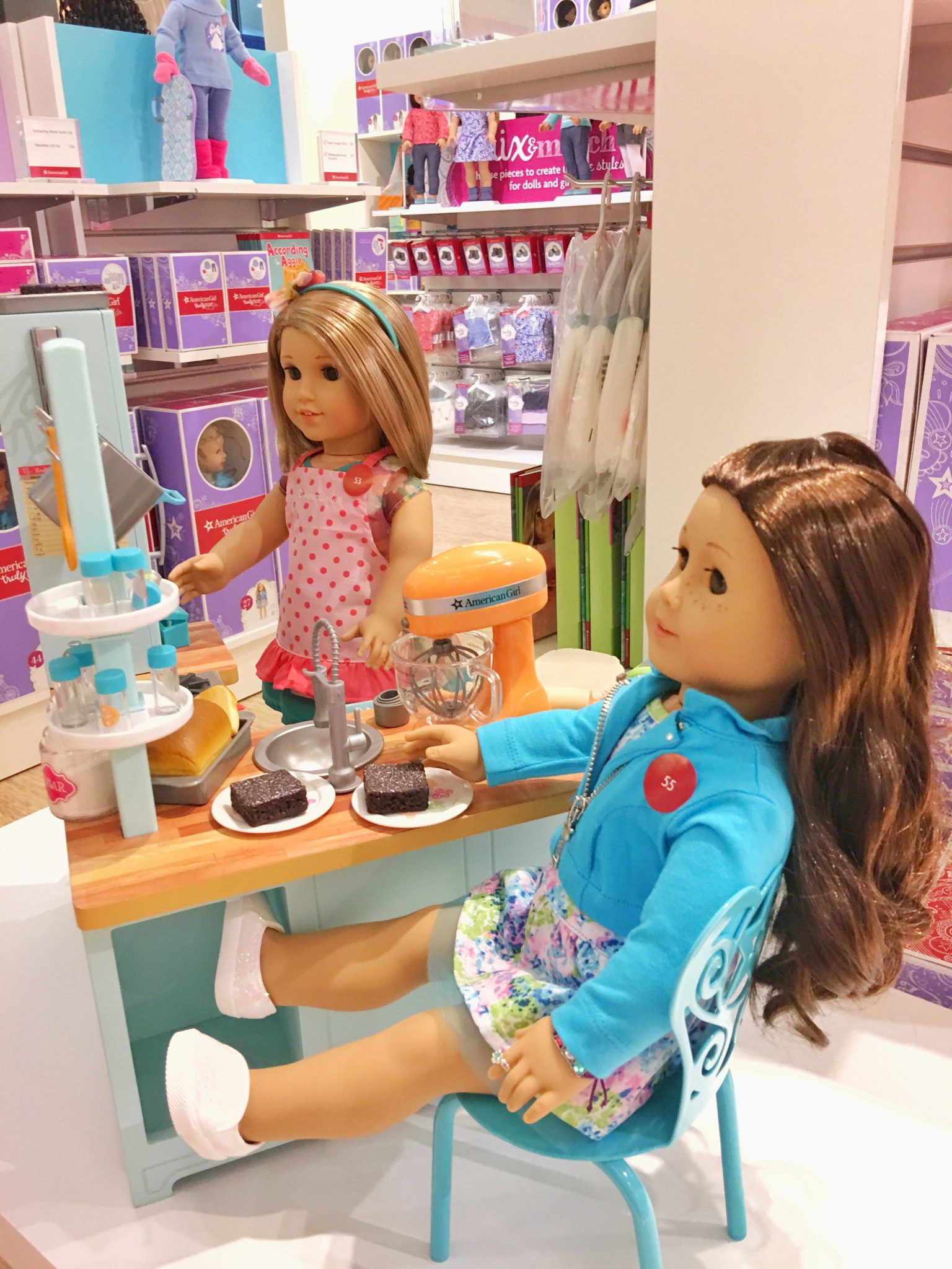 kitchen set for girl diy island on wheels baking american at washington square mall