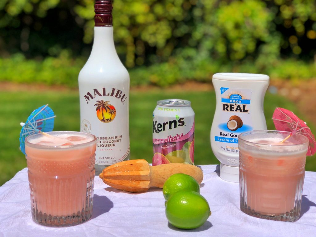 Leilani Volcano Rum Drink Recipe Malibu Rum Kerns Guava Nectar Coco Real