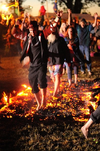 Firewalking before we were travelling bards