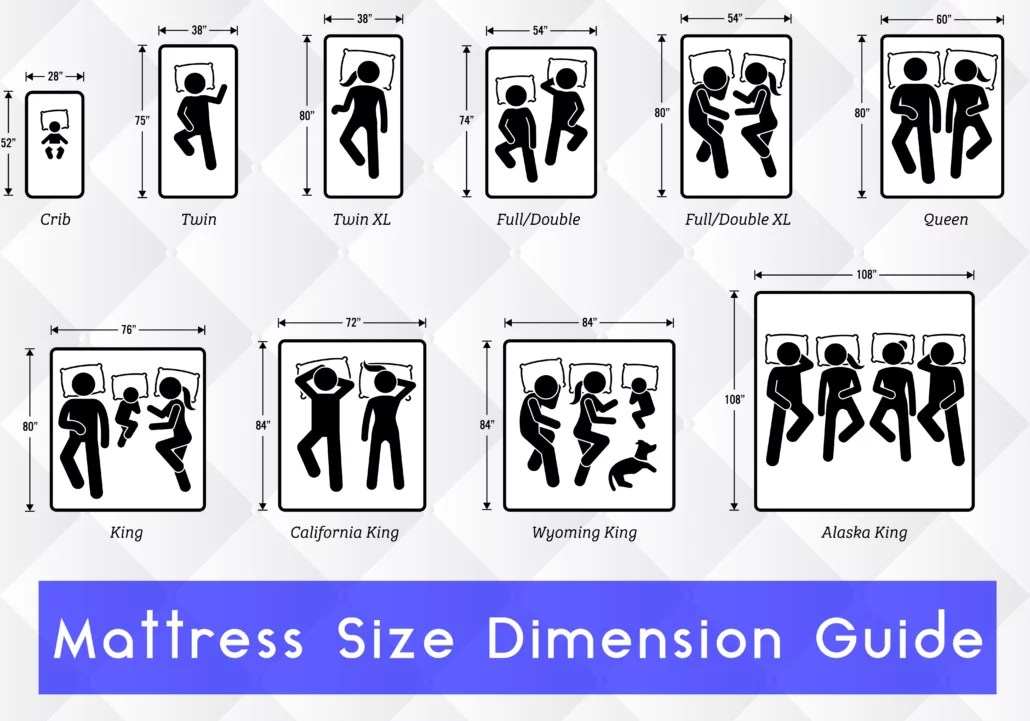 mattress size chart and