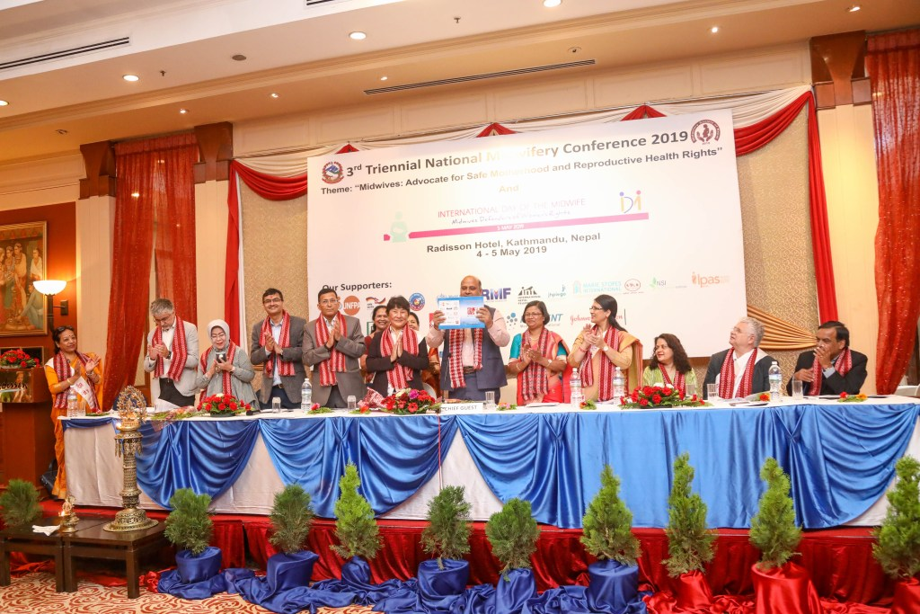 The abstract book released by organizing chair Professor Kiran Bajracharya