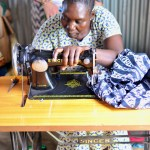 Vocational Training Student at Her Sewing Machine