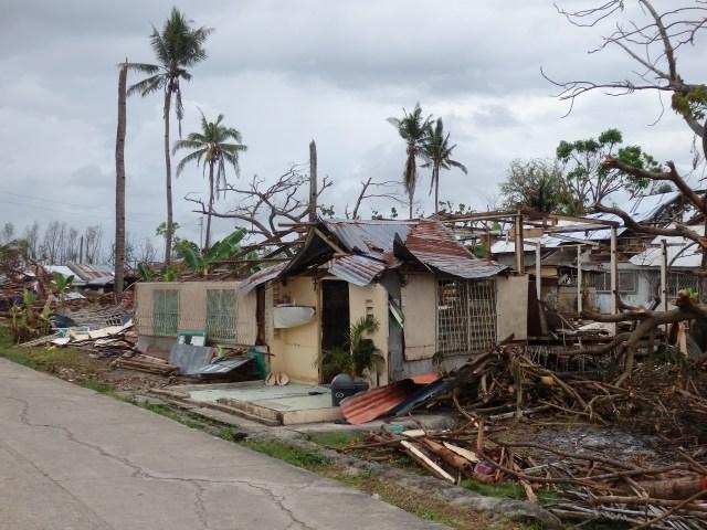Destruction in Bogo City