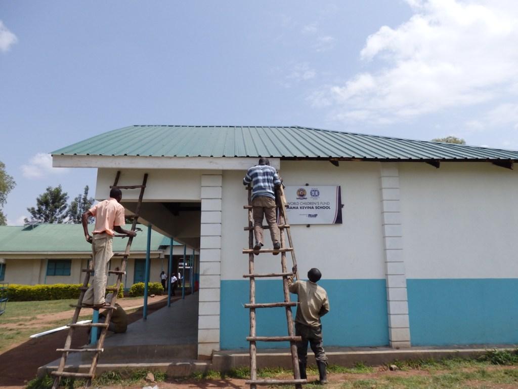 Mama Kevina construction finishing touches