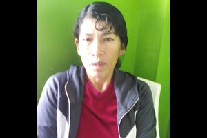 Peru Woman Green Background