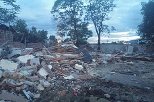 demolished building in serbia