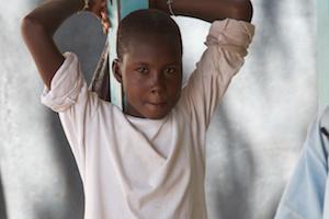 young kenyan boy standing
