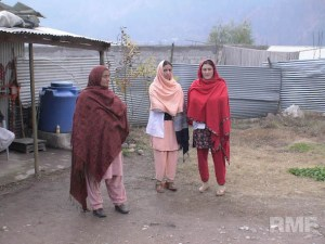pakistani women standing outside