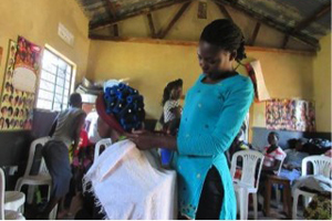 Hairdressing learning to set hair