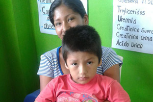 Jahasiel with his mother at RMF Clinic