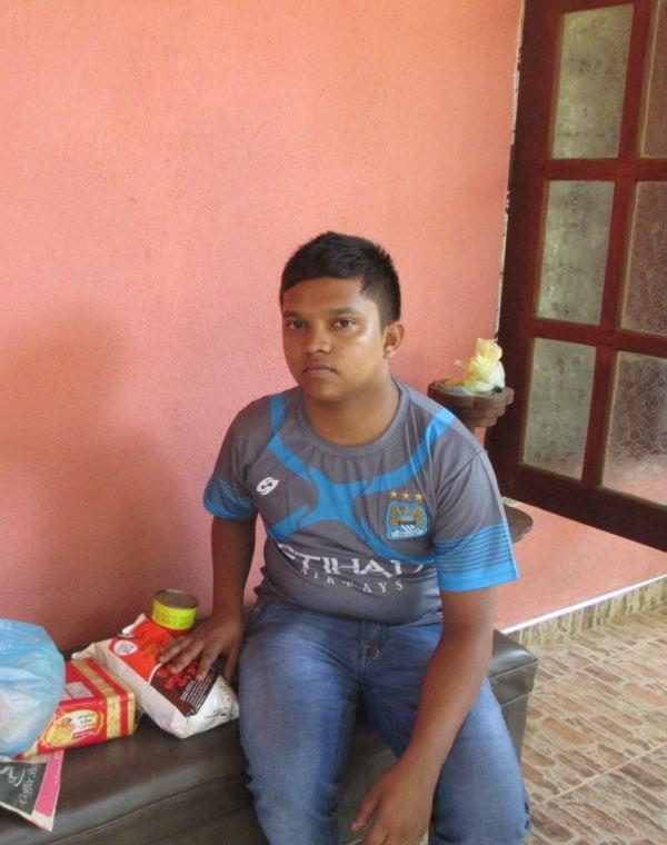 Fazeer with the food parcel