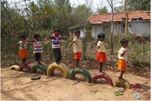 Children Practice Balance